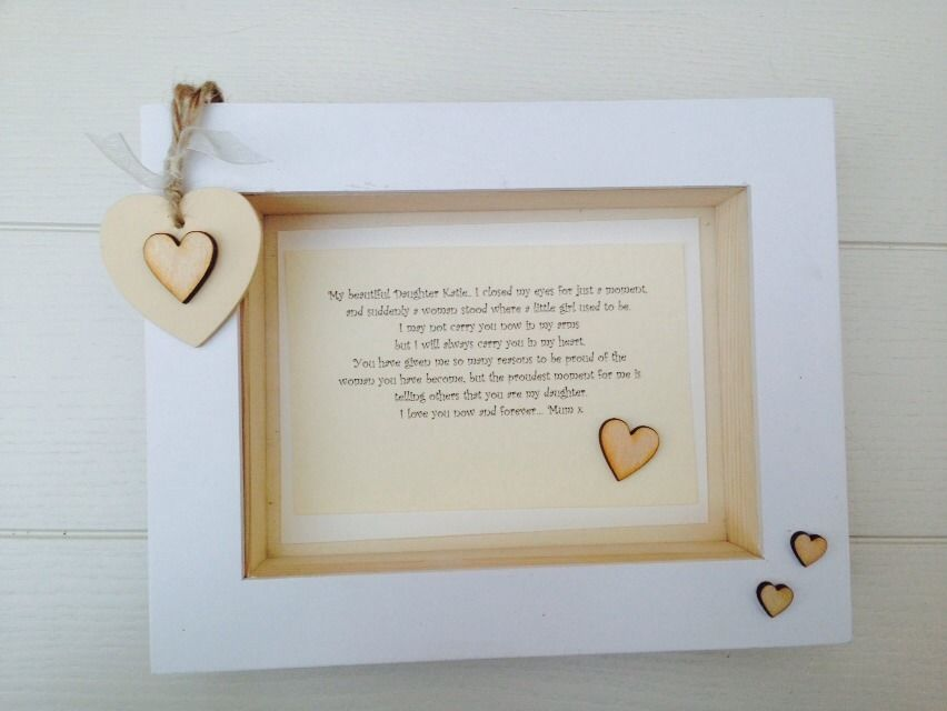 Shabby Personalised Chic Box Frame Daughter Special Gift From Mum ...