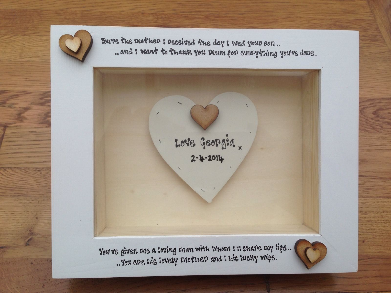 Shabby Personalised Chic Box Frame Gift Mother Of The Groom Mum ...
