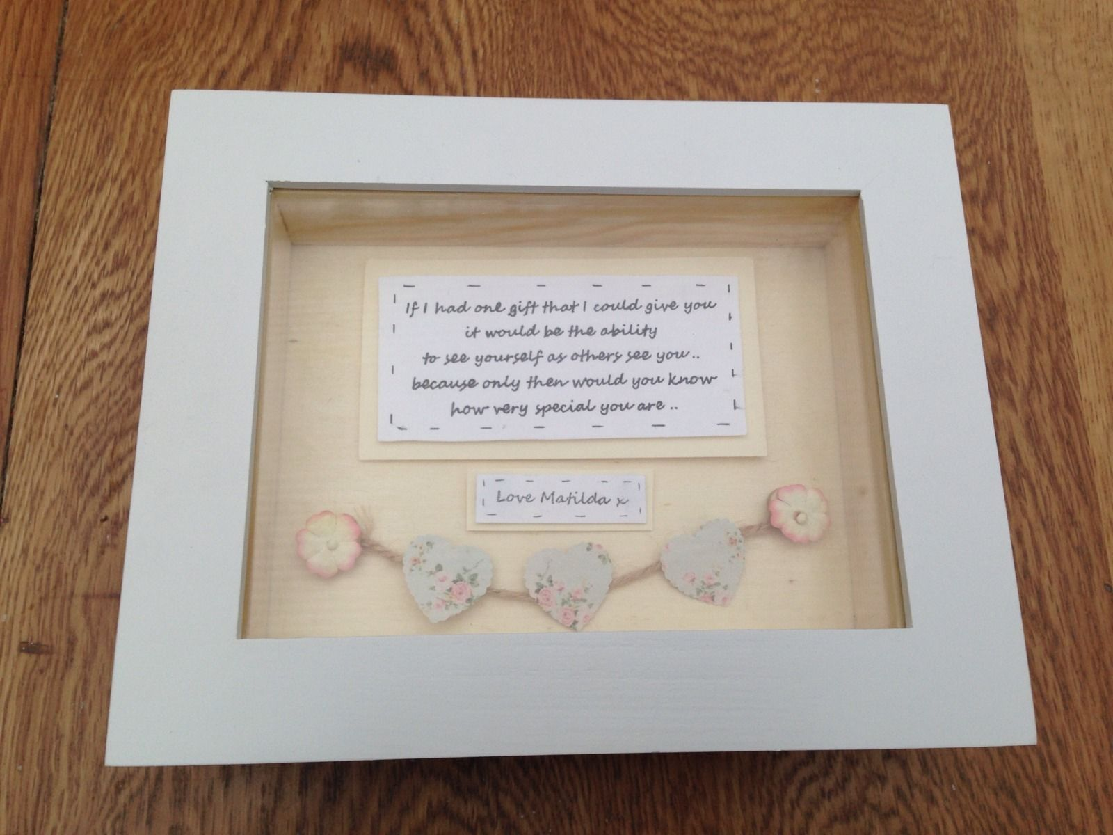 Shabby Personalised Chic Box Frame Gift Special Best Friend ...