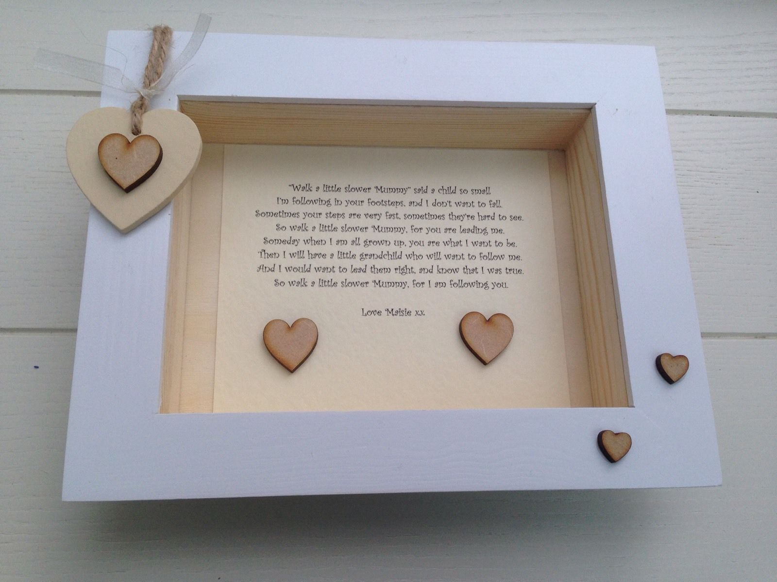 Shabby Personalised Chic Box Frame  Mummy Mum Special Gift From Her Daughter Son