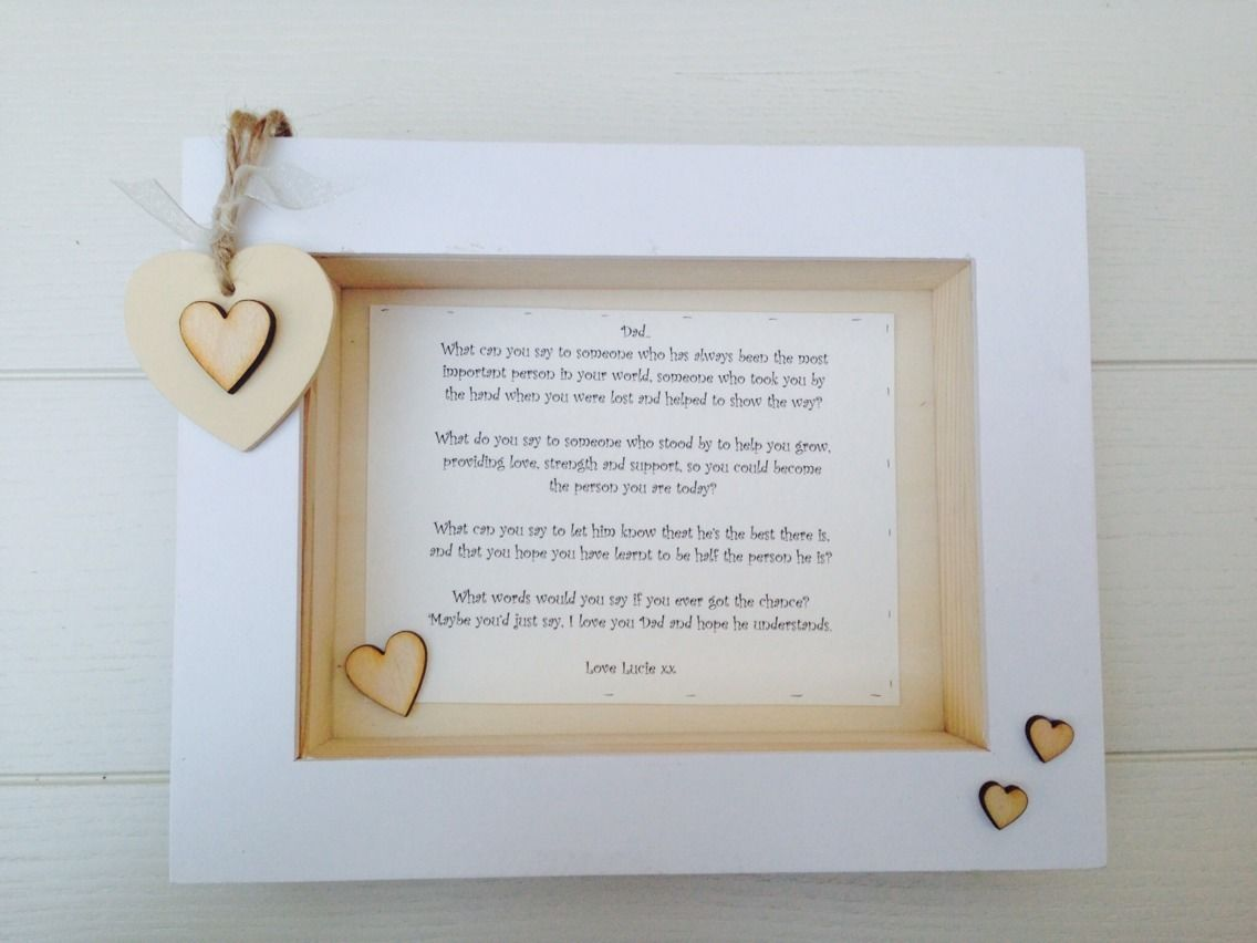 Shabby Personalised Chic Box Frame Special Gift Dad Daddy Father ...