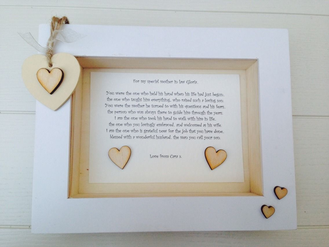 Shabby Personalised Chic Box Frame Special Mother In Law Mum Mam Mom ...