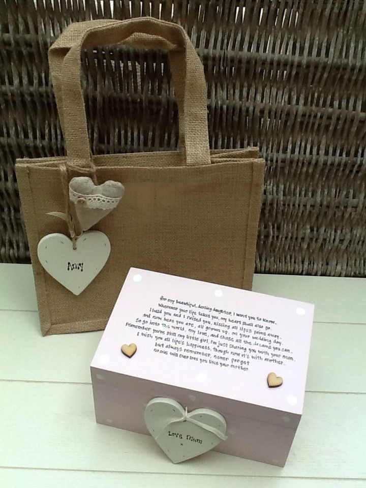 Shabby Personalised Chic Daughter On Her Wedding Day From Mother Of