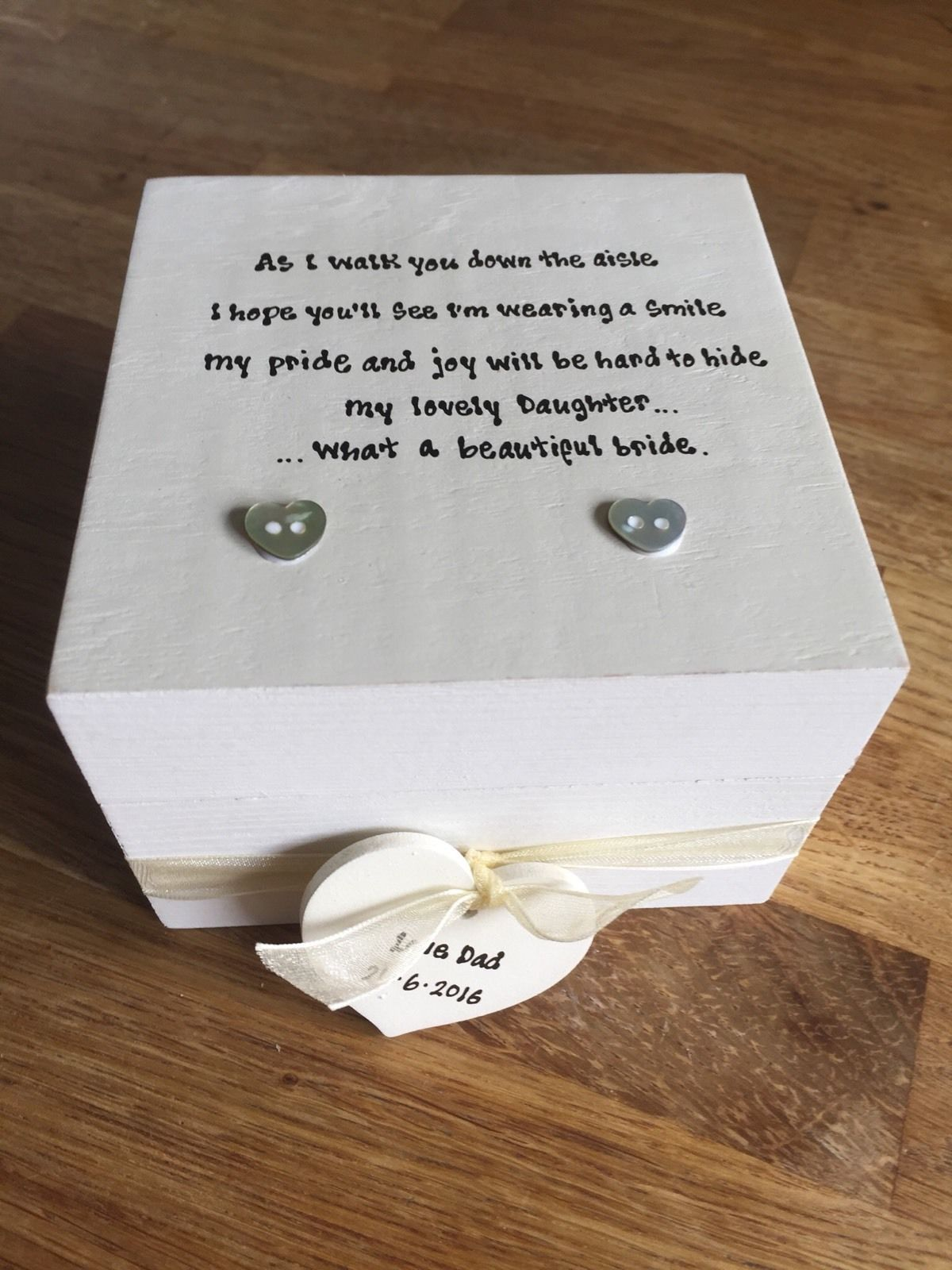 Shabby Personalised Chic Gift Father Of Bride For His Daughter On ...