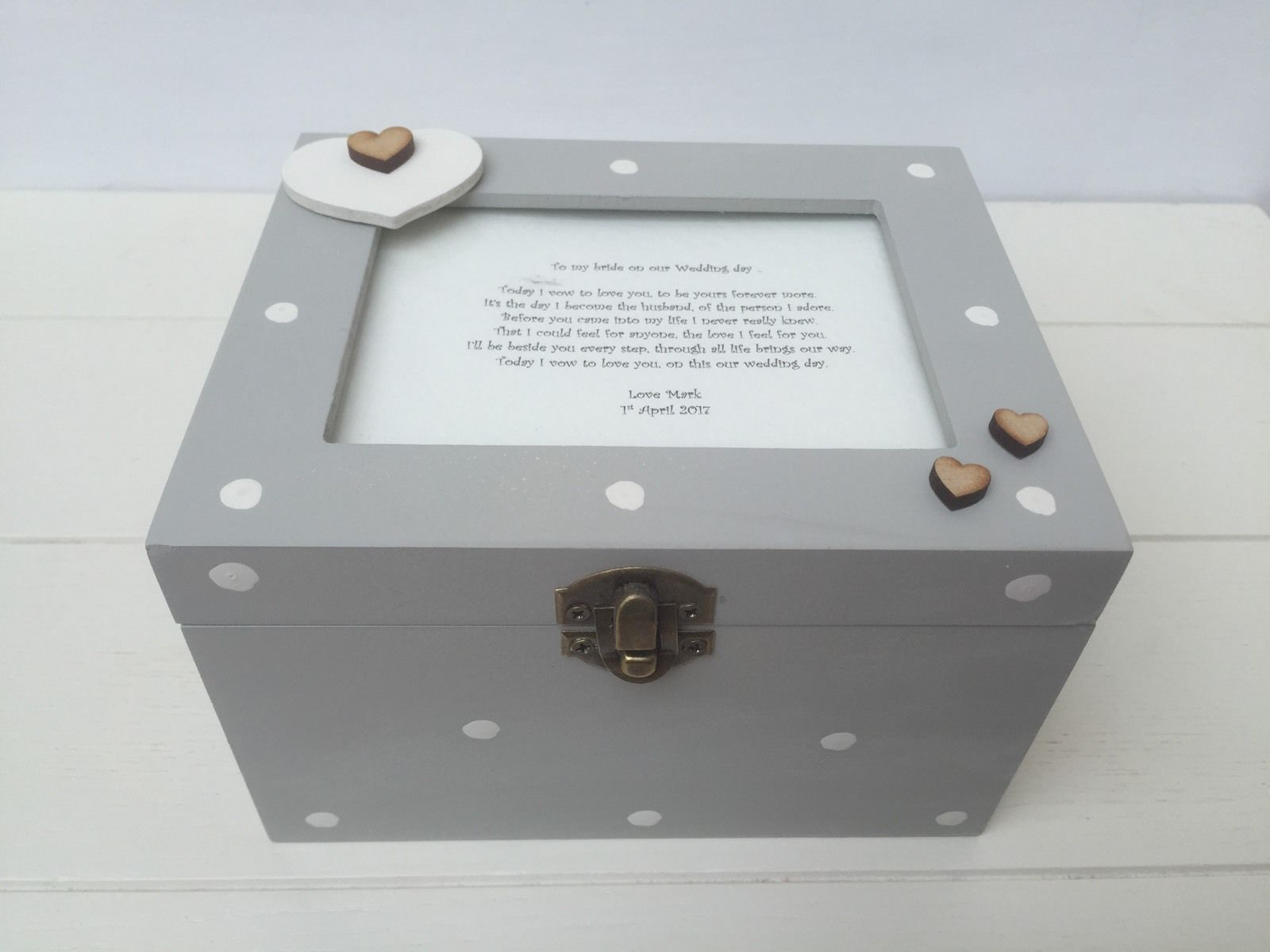 Shabby Personalised Chic Gift From Husband For Bride Keepsake Box