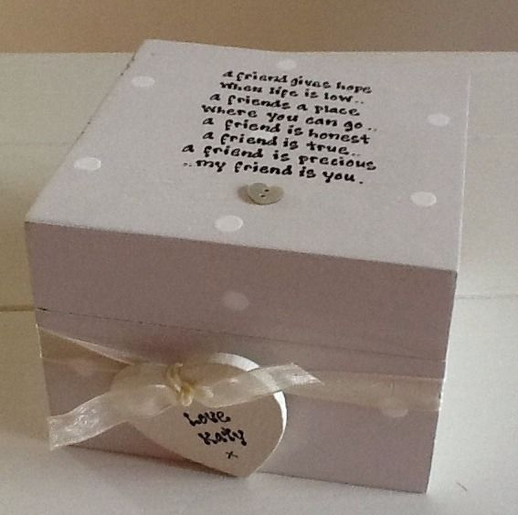 Shabby Personalised Chic Gift Special Best Friend Trinket Box Birthday Present 13056 P