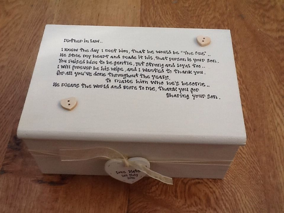 Shabby Personalised Chic Jewellery Box Mother Of The Groom Gift