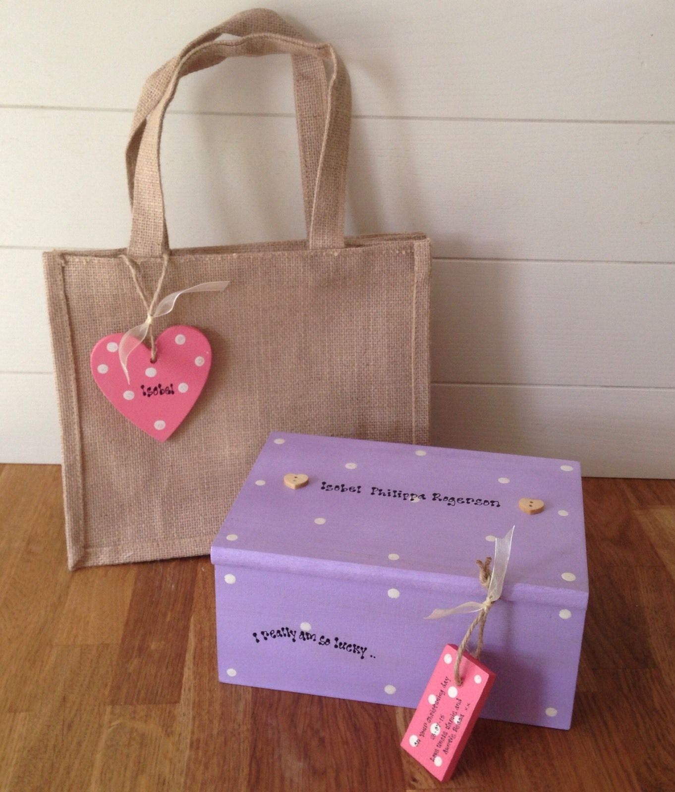Shabby Personalised Chic Jewellery Box Set Goddaughter Christening