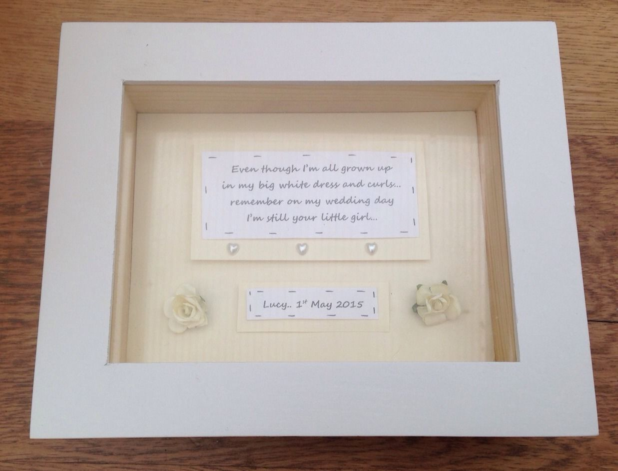Shabby Personalised Chic Mother Of The Bride Wedding Gift Box Frame ...