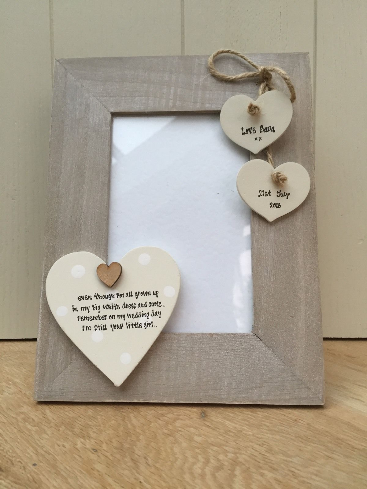 Shabby Personalised Chic Photo Frame Mother Father Of The Bride