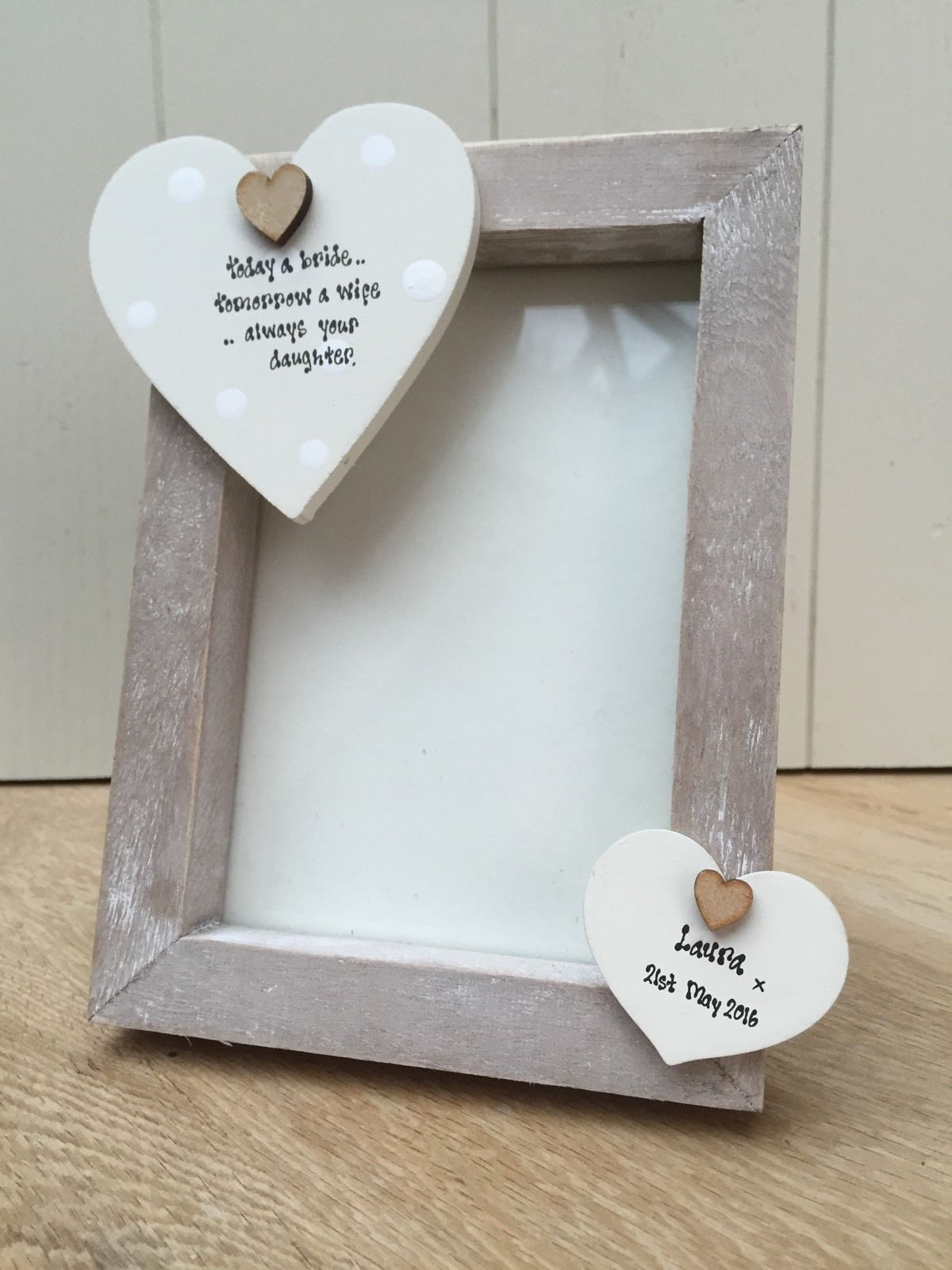 Shabby Personalised Chic Photo Frame Mother Of The Bride Wedding Day