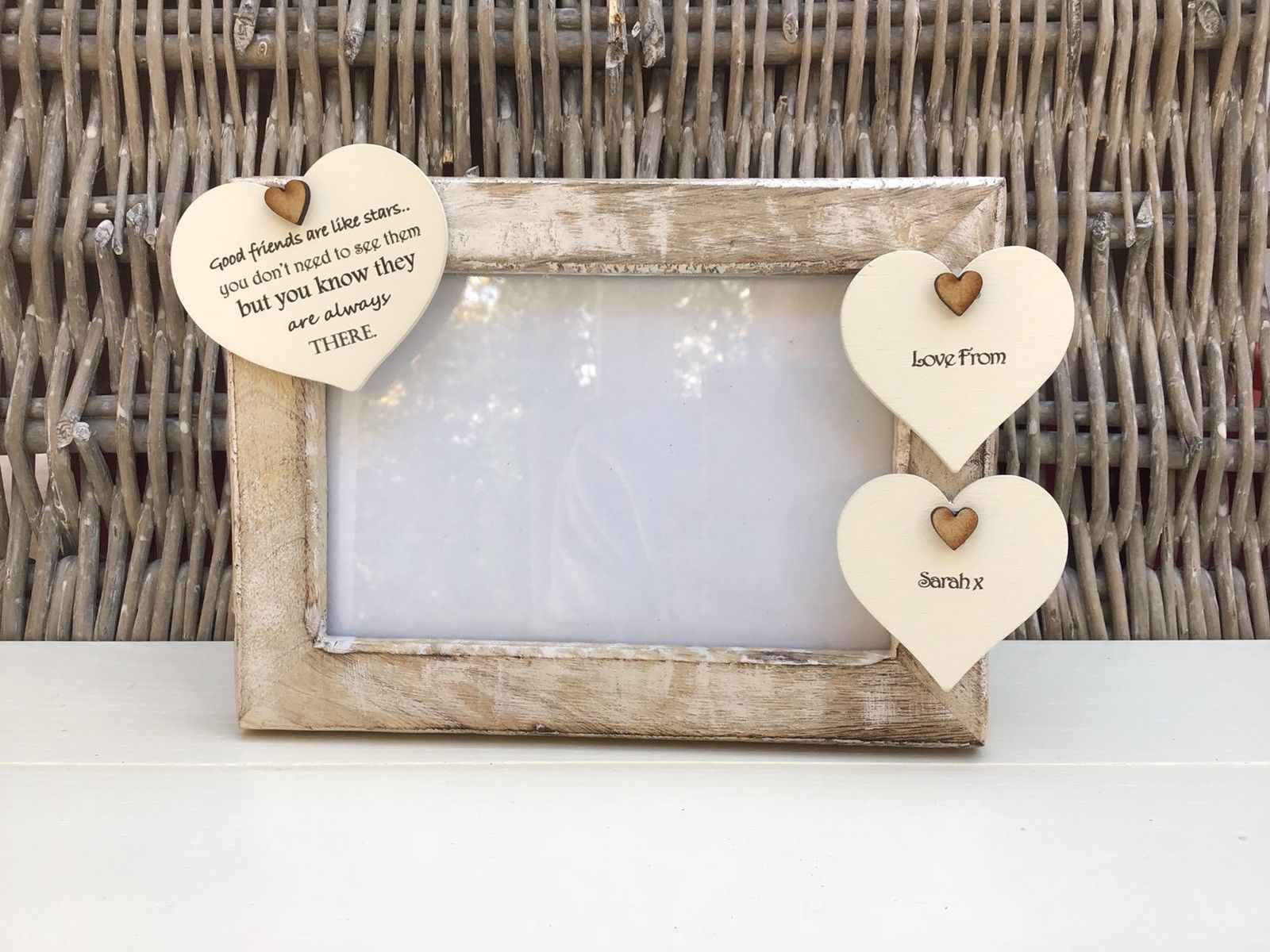 d6e7fa35ac1a Shabby personalised Chic Photo Frame Special Best Friend Friendship Any Name  - 253965278895