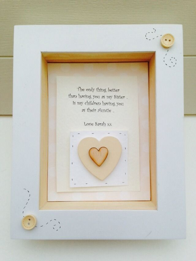 Shabby Personalised Chic Sister Gift Box Frame Gift Auntie Aunty ...