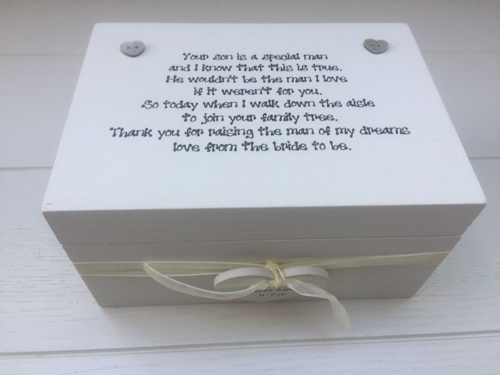 Mother Of The Groom Gift: Shabby Personalised Chic Special Mother Of The Groom From